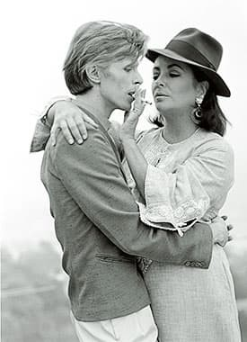 David Bowie with Liz Taylor by Terry O'Neill