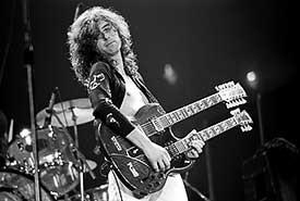 Jimmy Page of Led Zeppelin by Neil Zlozower