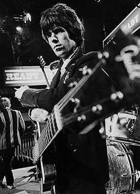 Keith Richards of the Rolling Stones by Barrie Wentzell