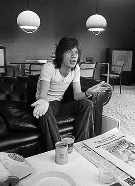 Mick Jagger of the Rolling Stones by Barrie Wentzell
