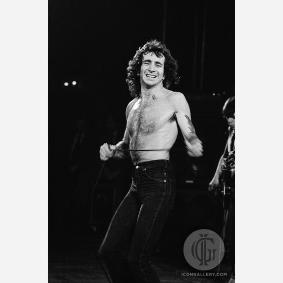 Bon Scott of AC/DC by Steve Emberton