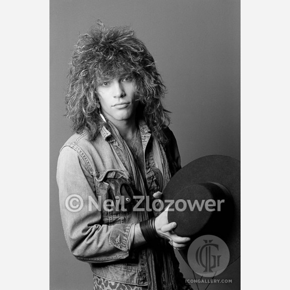 Jon Bon Jovi of Bon Jovi by Neil Zlozower