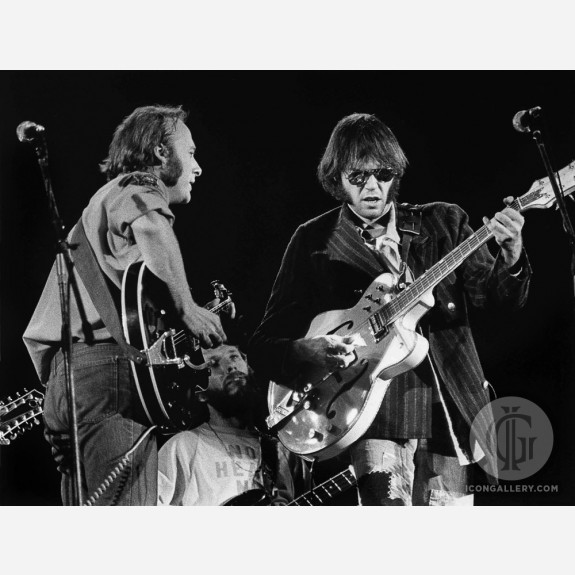 Crosby, Stills, Nash & Young by Barrie Wentzell