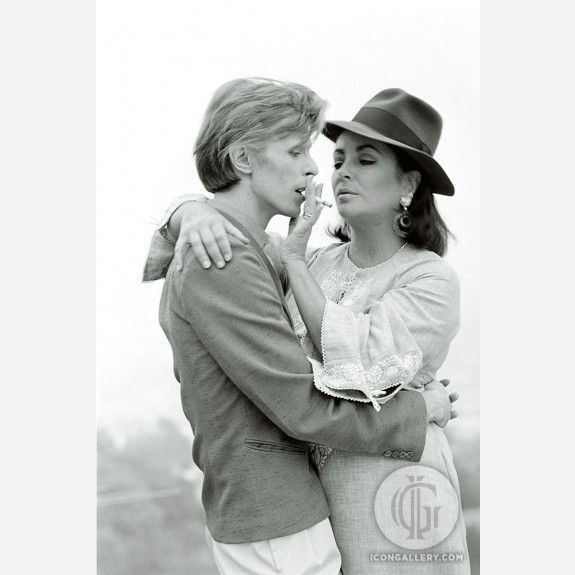 David Bowie & Liz Taylor by Terry O'Neill