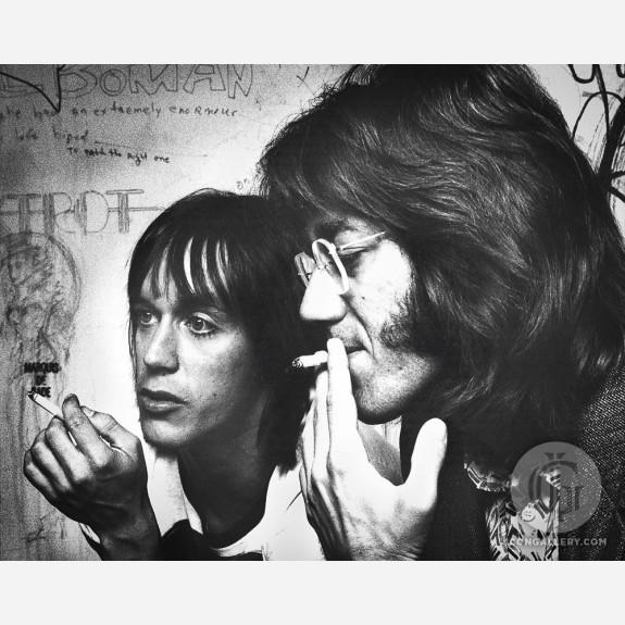 Iggy Pop & Ray Manzarek by Gijsbert Hanekroot