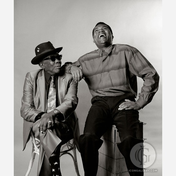 John Lee Hooker with Robert Cray by Ken Settle