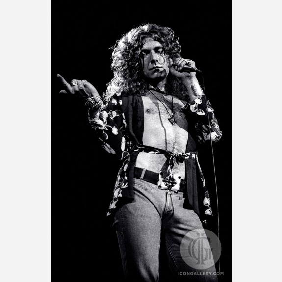 Robert Plant of Led Zeppelin by Adrian Boot