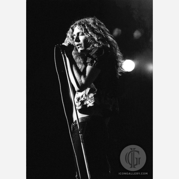 Robert Plant of Led Zeppelin by Ian Dickson