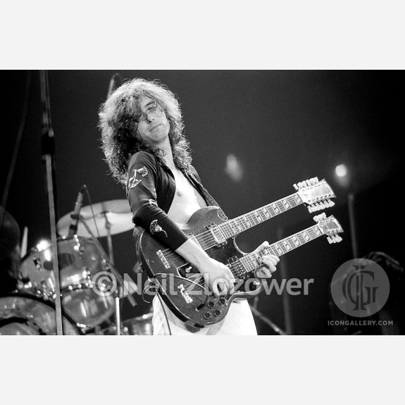 Jimmy Page of Led Zeppelin by Neil Zlozower