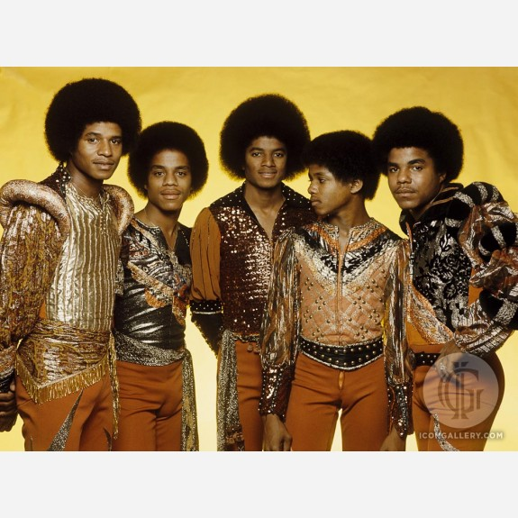 Michael Jackson w/the Jacksons by Gijsbert Hanekroot