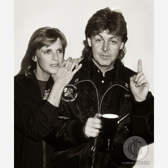 Paul & Linda McCartney by Ken Settle