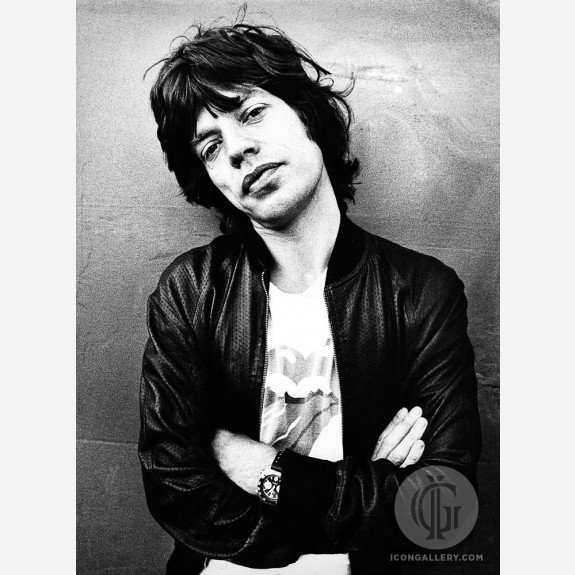 Mick Jagger of the Rolling Stones by Gijsbert Hanekroot