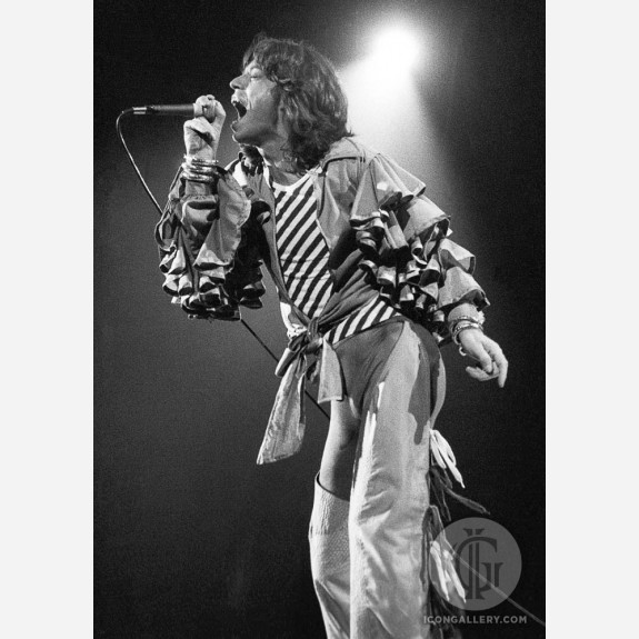 Mick Jagger of the Rolling Stones by Ian Dickson