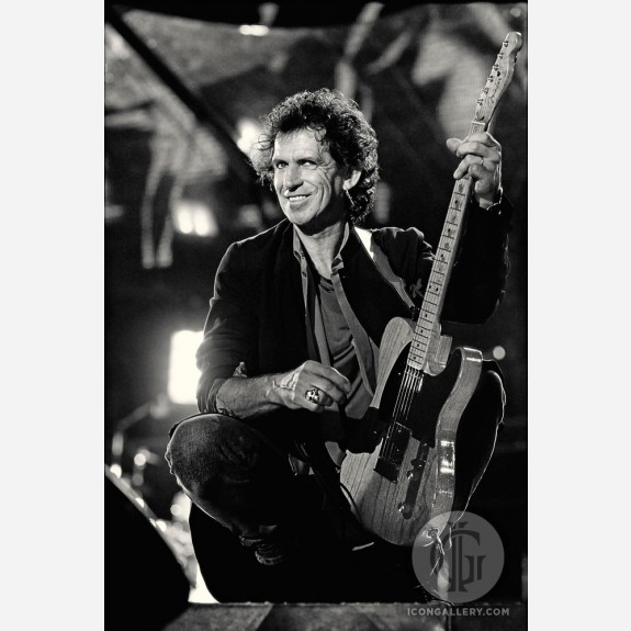 Keith Richards of the Rolling Stones by Ken Settle
