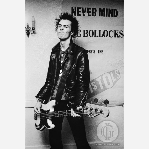 Sid Vicious of the Sex Pistols by Steve Emberton