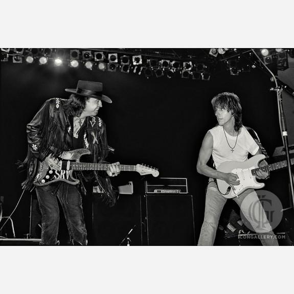 Stevie Ray Vaughan & Jeff Beck by Ken Settle