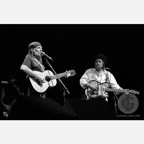 Willie Nelson & Waylon Jennings by Ebet Roberts