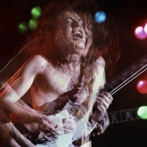 Angus Young of AC/DC by Al Rendon