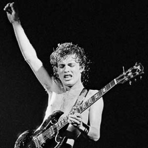 Angus Young of AC/DC by Steve Emberton