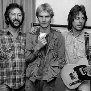 Eric Clapton, Sting & Jeff Beck by Adrian Boot