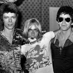 David Bowie, Iggy Pop & Lou Reed by Mick Rock