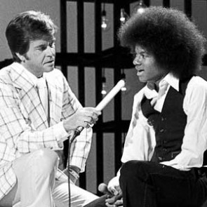 Michael Jackson w/Dick Clark by Barry Schultz