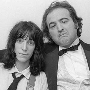 Patti Smith with John Belushi by Allan Tannenbaum