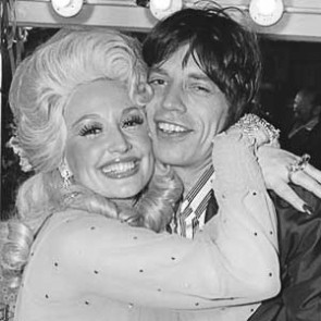 Dolly Parton & Mick Jagger by Allan Tannenbaum