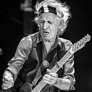 Keith Richards of the Rolling Stones by Jérôme Brunet