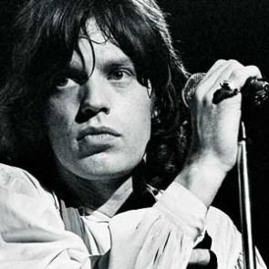 Mick Jagger of the Rolling Stones by Peter Sanders