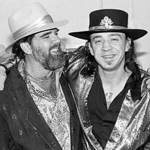 Stevie Ray Vaughan with Lonnie Mack by Ebet Roberts