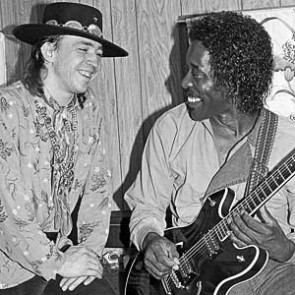 Stevie Ray Vaughan & Buddy Guy by Ebet Roberts