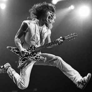 Eddie Van Halen of Van Halen by Neil Zlozower