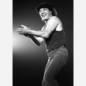 Brian Johnson of AC/DC by Ian Dickson