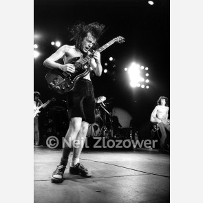 Angus Young of AC/DC by Neil Zlozower