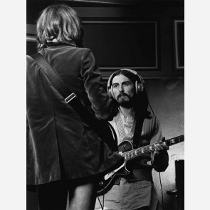 Eric Clapton & George Harrison by Barrie Wentzell