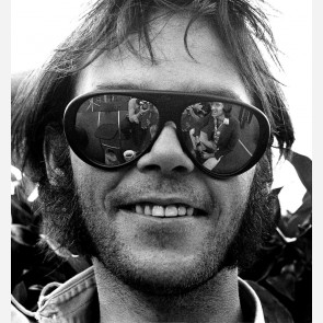 Neil Young of Crosby, Stills, Nash & Young by Gijsbert Hanekroot
