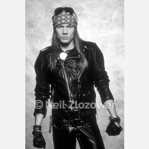 Axl Rose of Guns N' Roses by Neil Zlozower