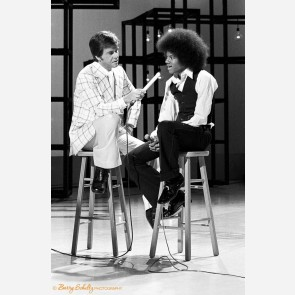 Michael Jackson with Dick Clark by Barry Schultz