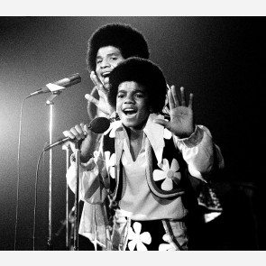 Michael Jackson w/the Jackson 5 by Gijsbert Hanekroot