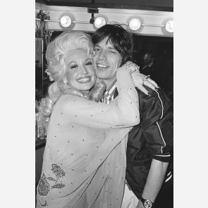 Mick Jagger & Dolly Parton by Allan Tannenbaum