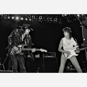 Stevie Ray Vaughan & Jeff Beck by Ken Settle